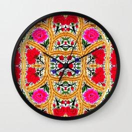 Spanish Flowers Wall Clock