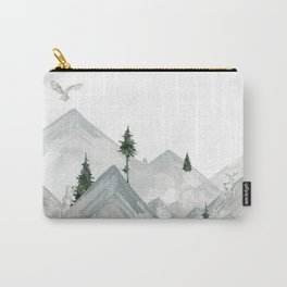 Winter mountains with forrest animals - Curtain kids/ baby Carry-All Pouch