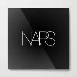 Naps Cosmetic Chic Black Typography Metal Print