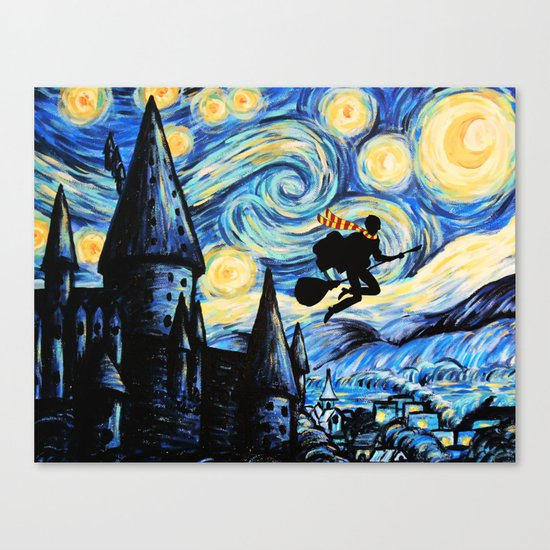 Potter Starry Night Canvas Print