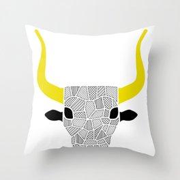 minoan bull Throw Pillow
