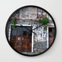 Old Sicilian facade of Taormina Wall Clock