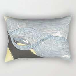 Thoughts of the sea Rectangular Pillow