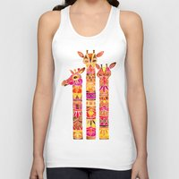 giraffes Tank Tops featuring Giraffes – Fiery Palette by Cat Coquillette