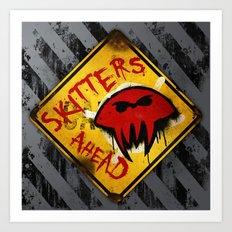 Caution: Skitters Ahead (Falling Skies) Art Print