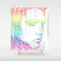 elvis Shower Curtains featuring Elvis by ron ashkenazi