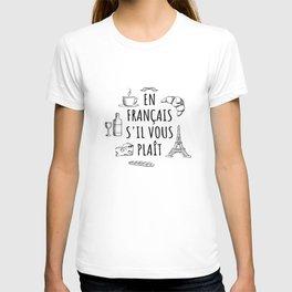 En Francais S'il Vous Plait - French Quote T-shirt