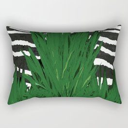 ZEBRA PALM WINTER GREEN Rectangular Pillow