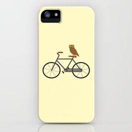 Owl Riding Bike iPhone Case