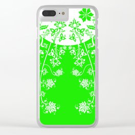 floral ornaments pattern wbm90 Clear iPhone Case