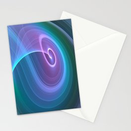 Spiral of Light in Blue Stationery Cards