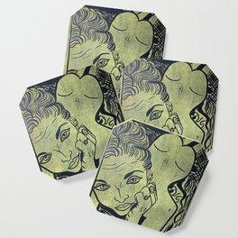 Original Linocut Art By Gina Lee Ronhovde Coaster