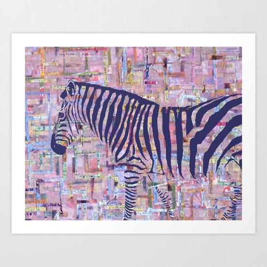 Zelda the Zebra Art Print
