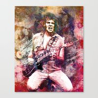 neil young Canvas Prints featuring Neil Young Original Painting Print by RockChromatic