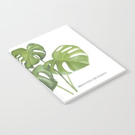 Monstera deliciosa 3 Leaves Notebook