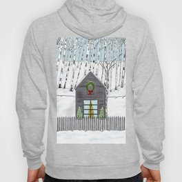 Christmas Cabin In The Snowy Woods Hoody