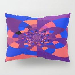 Kaleidoscope Purple Melon Cobalt Blue Pillow Sham