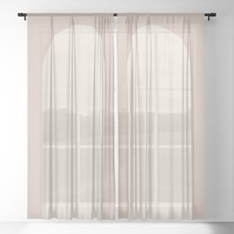 Minimal Arch - Neutral Pink Sheer Curtain