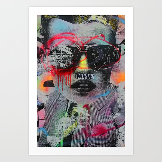 Graffiti Wall NYC Art Print