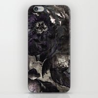 goth iPhone & iPod Skins featuring goth peony by inourgardentoo