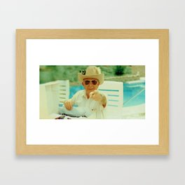 Cowboy Grandad Framed Art Print