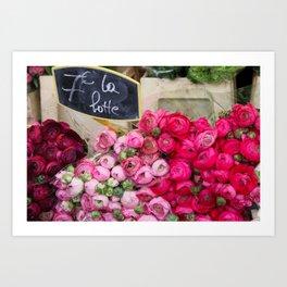Paris Marché Flower Piles Art Print