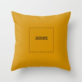 kenny (old mustard) Throw Pillow