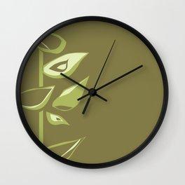 Avacodo flowers II Wall Clock