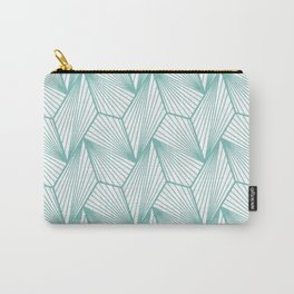 Modern Geometric Pastel Sage Industrial Urban Pattern Carry-All Pouch