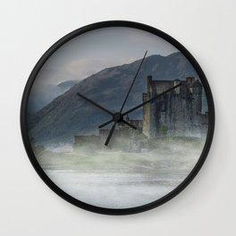 Eilean Donan Castle at dawn Wall Clock