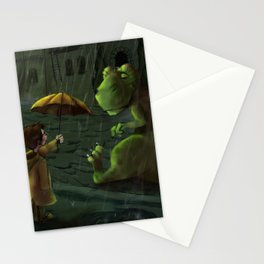 Friends In Rain Stationery Cards