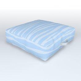 Zebra Print - Wavy Blue Outdoor Floor Cushion