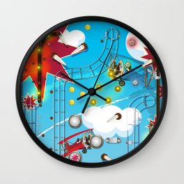 Pinball Machine arcade game Wall Clock