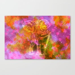 Elephant in love Canvas Print