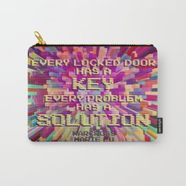 Every locked door has a key. Every problem has a solution. Warcross Carry-All Pouch