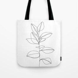 One line plant illustration - Dany Tote Bag