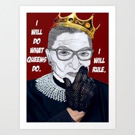 Queen RBG Art Print