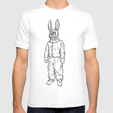 Rotten rabbit White Mens Fitted Tee SMALL