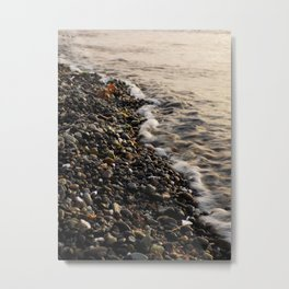 Peaceful Pebbles Metal Print
