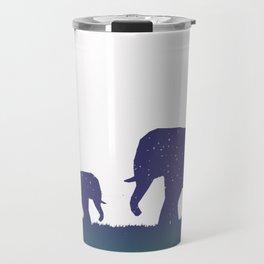 Elephant Silhouettes (Alternate)  Travel Mug