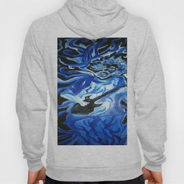 Jerry Garcia Blues Acrylic Painting Grateful Dead Hoody