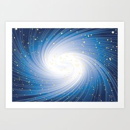 Stars, Light and Motion in space Art Print