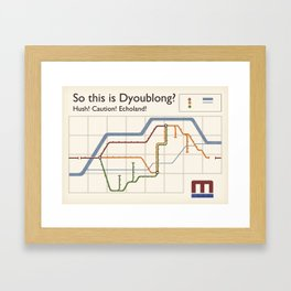 so this is dyoublong? Framed Art Print