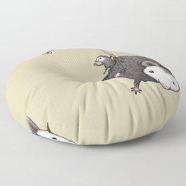 Opossum Family Floor Pillow