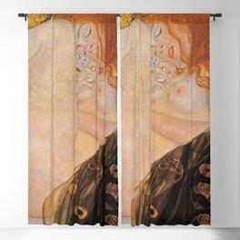 Danae Portrait Painting by Gustav Klimt Blackout Curtain