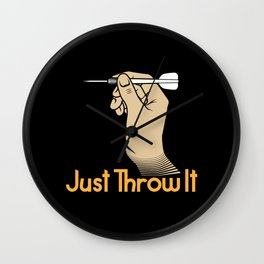 Just throw it! - Gift Wall Clock