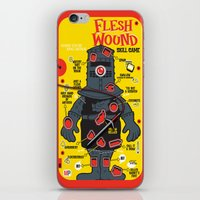 in the flesh iPhone & iPod Skins featuring Flesh Wound by Captain_RibMan