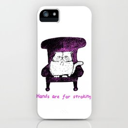 Hands are for Stroking (Pink) iPhone Case