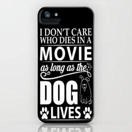 Movie Dog iPhone Case