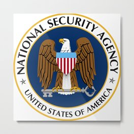 National Security Agency Crest Metal Print
